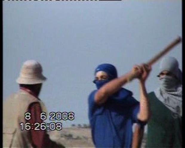 "<p>[9742] 8  Settlers attack the Nawaj'ah family near Susiya, 8 June 2008. </p><p>Photo credit: Muna a-Nawaj'ah, ""Shooting Back"" B'Tselem</p>"