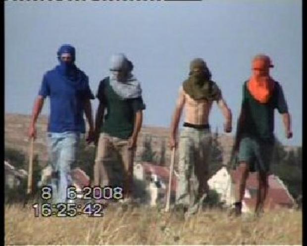 "<p>[9745] 8  Settlers attack the Nawaj'ah family near Susiya. 8 June 2008.</p><p>Photo credit: Muna a-Nawaj'ah, ""Shooting Back"" B'Tselem</p>"