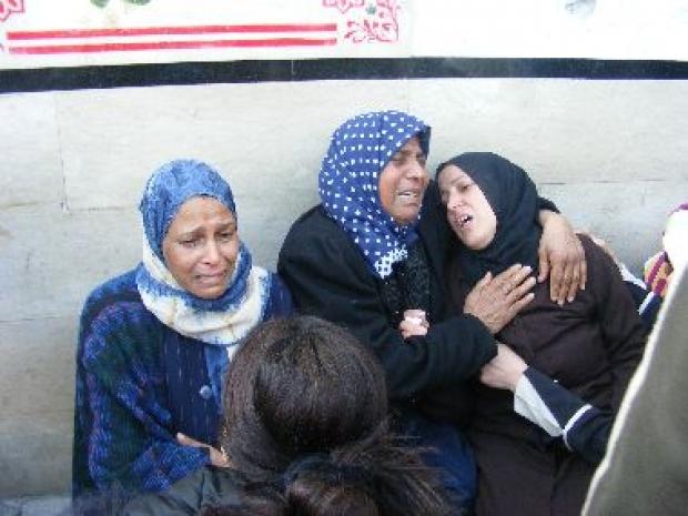 <p>[10309] 4  Operation Cast Lead: Bereaved women at a-Shifaa Hospital, in Gaza City, 4 January 2009. </p><p>Photo credit: Muhammad Sabah, B'Tselem</p>